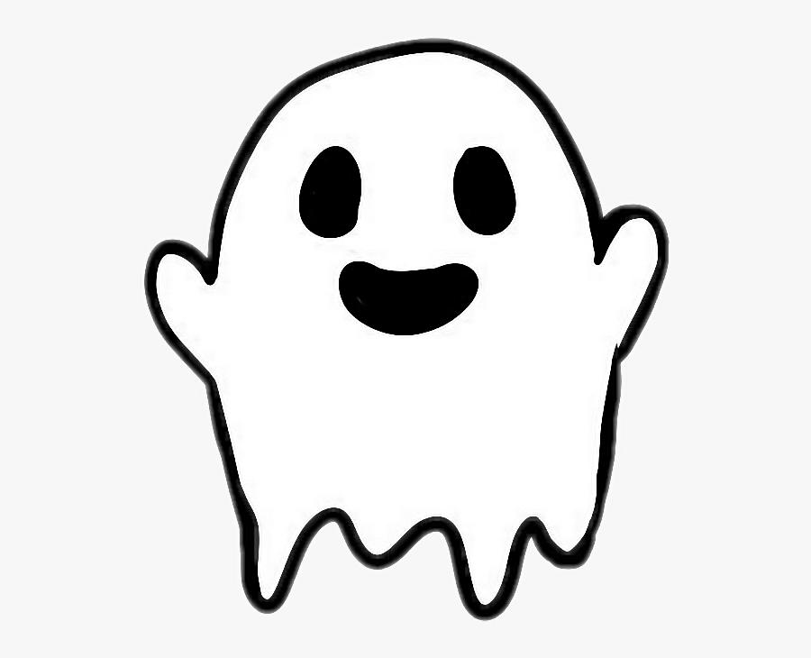 Transparent Cute Ghost Png - Sticker Tumblr Transparent Black, Transparent Clipart