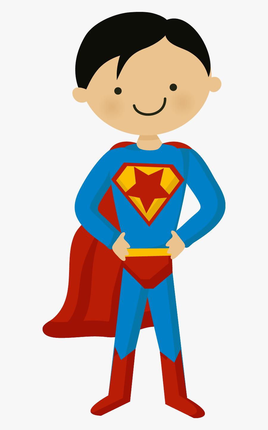 Super Homem Minus Superman - Super Hero Kids Cartoon, Transparent Clipart