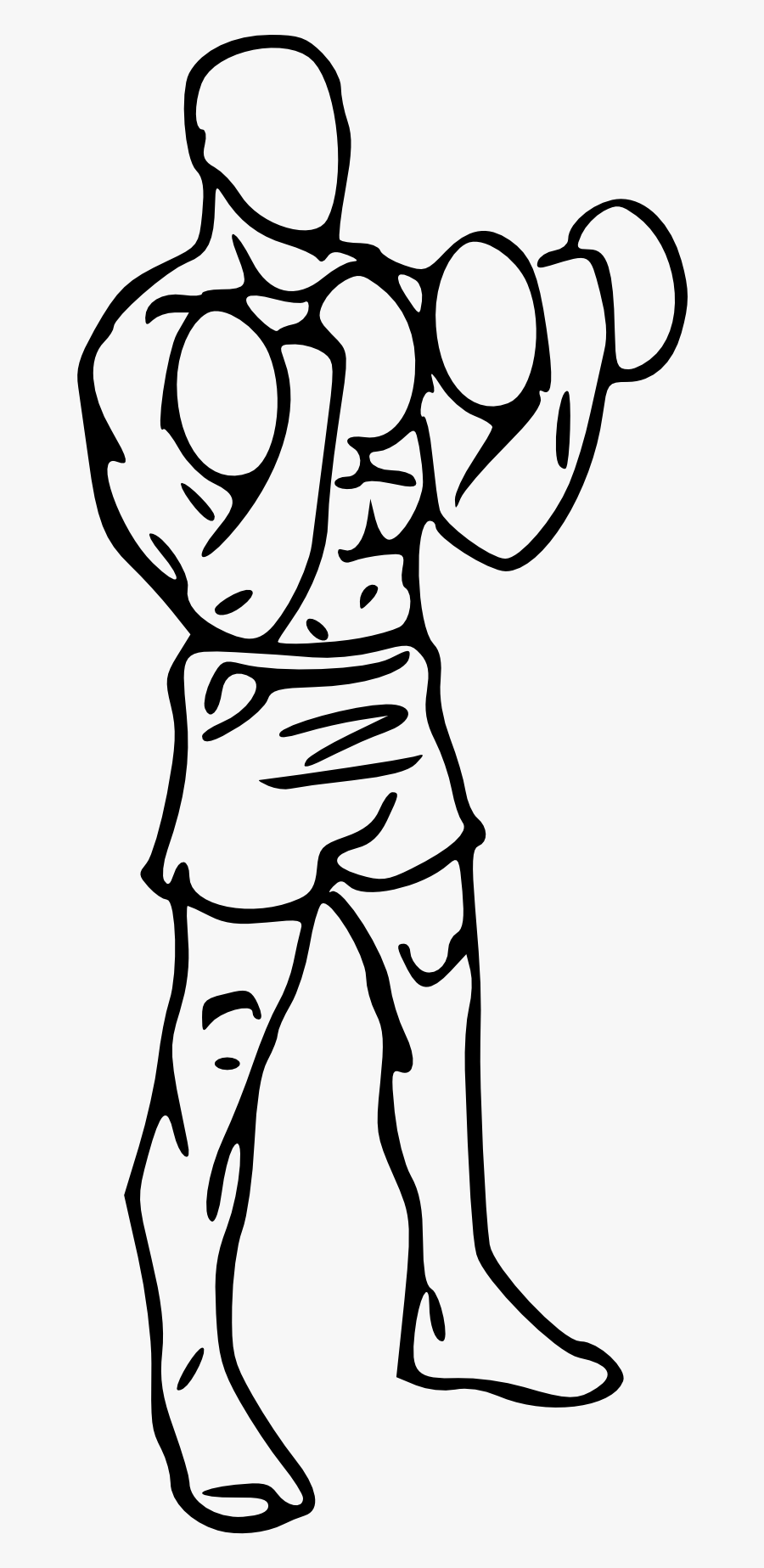 Muscle Clipart Bicep Curl - Dumbbell Bicep Curl Drawing, Transparent Clipart