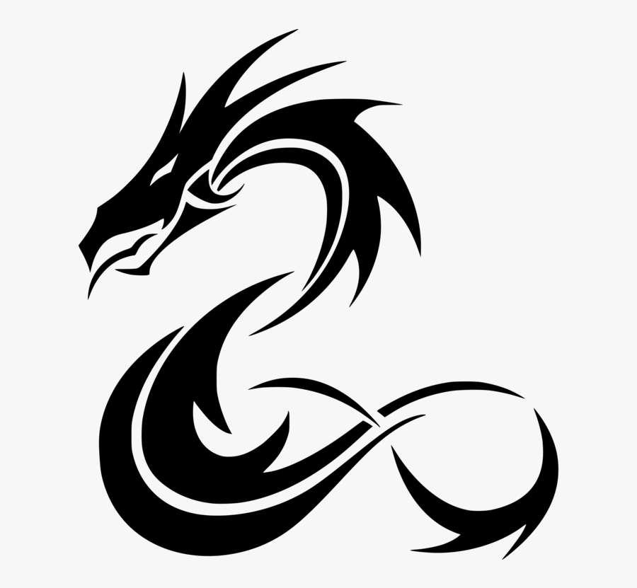 Thumb Image - Drawing Of Tattoo Dragon, Transparent Clipart