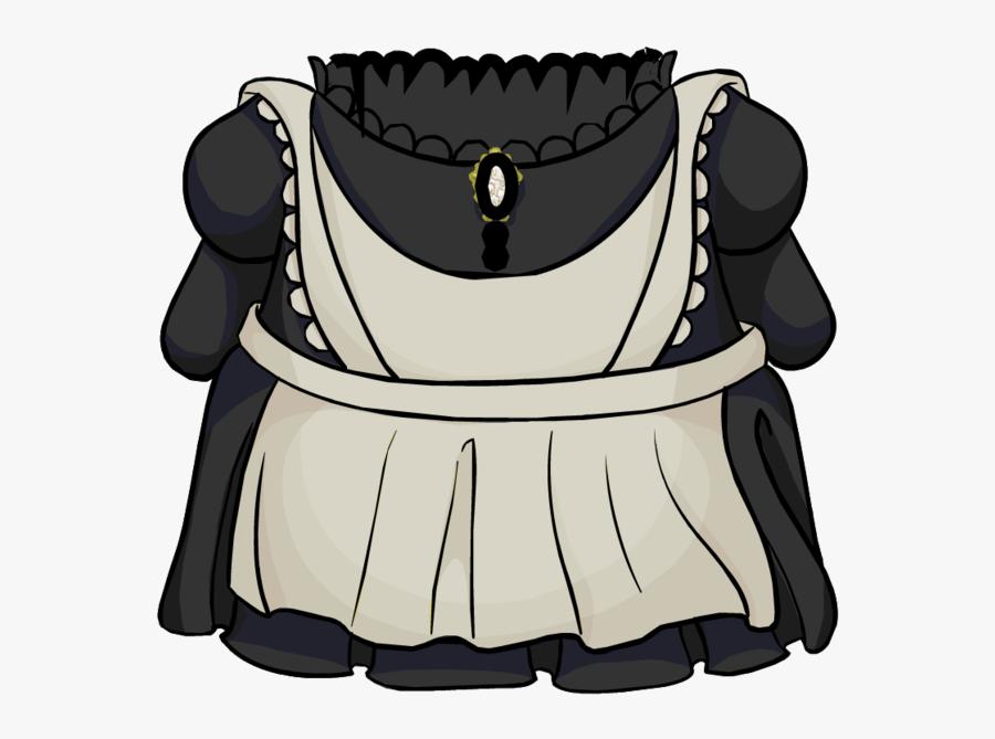 Club Penguin Maid Costume, Transparent Clipart