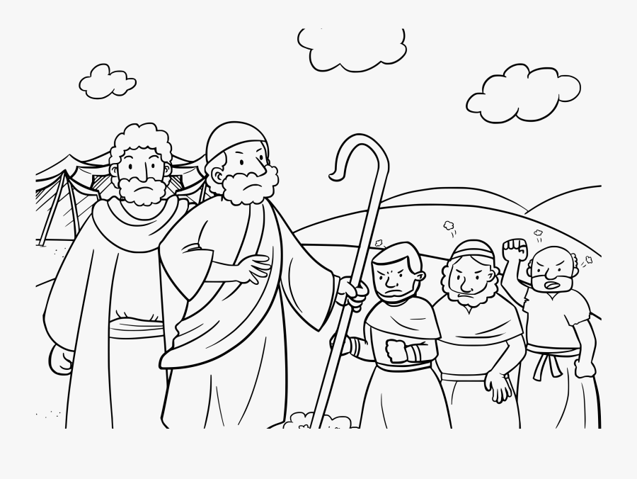 Download Moses And Aaron Coloring Pages Clipart Book - Moses And Aaron Coloring Pages, Transparent Clipart