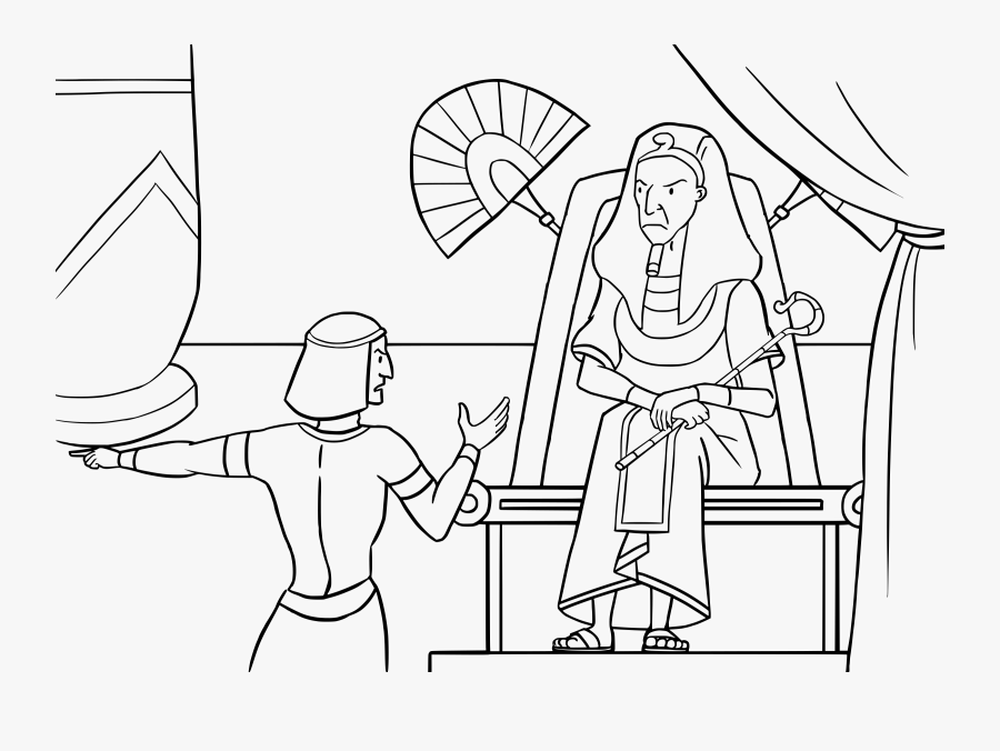 Pharaoh Coloring Pages - Moses And Pharaoh Colouring, Transparent Clipart