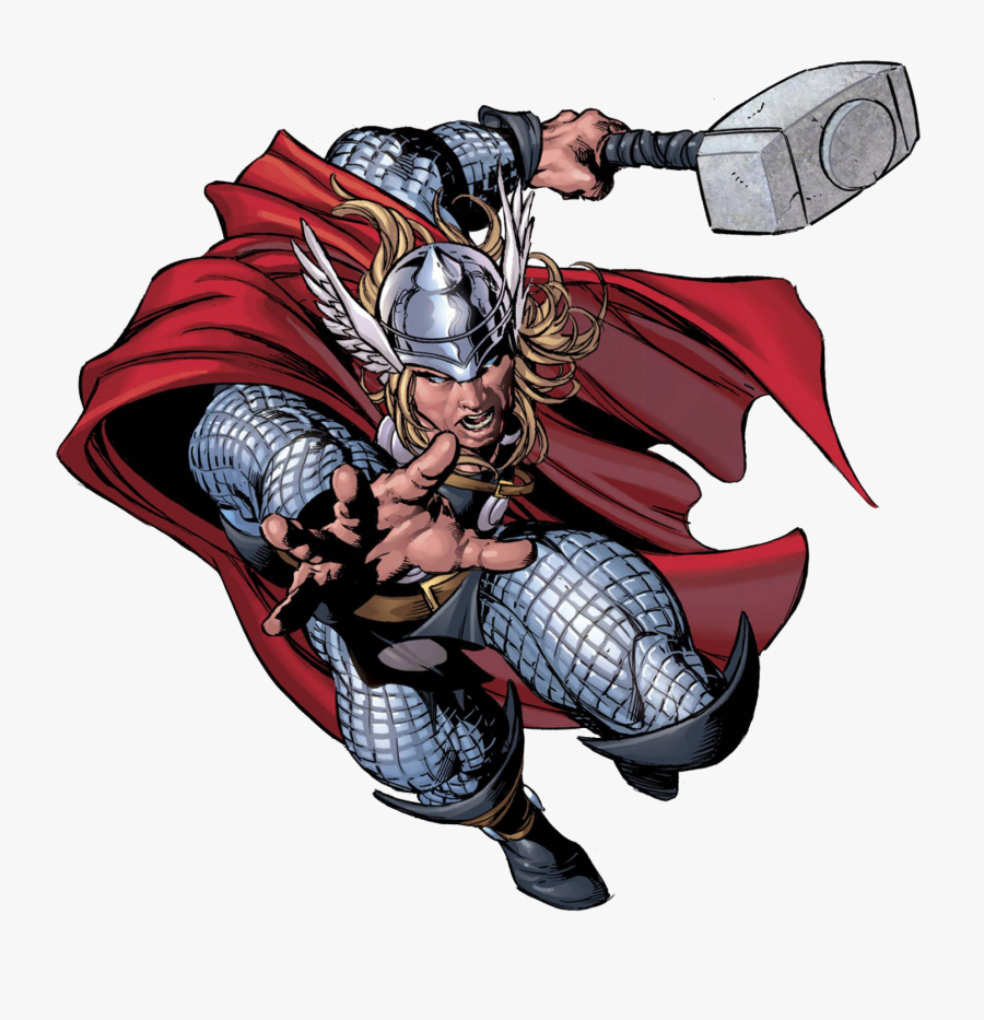 Character Profile Series Thor Marvel Super Heroes Clipart - Super Heroes Marvel Png, Transparent Clipart