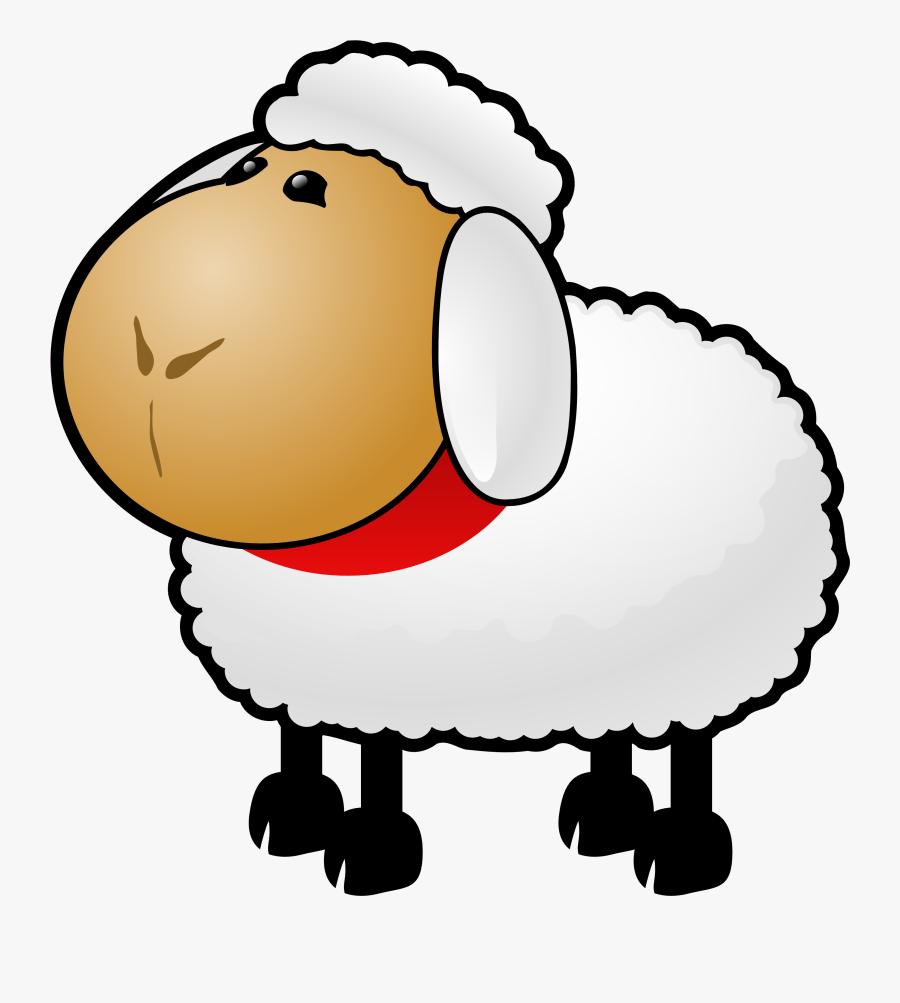 Sheep Black And White Sheep Lamb Clipart Black And - Sheep Clipart Gif, Transparent Clipart