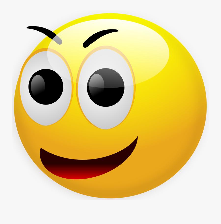 Emoticon Clip Art Gif - Smiley Face 3d Png, Transparent Clipart