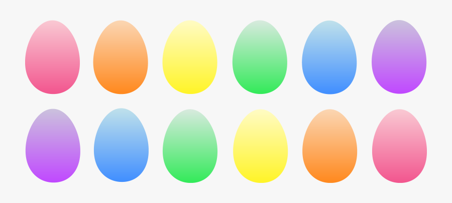 Colored Easter Eggs Clip Art, Transparent Clipart