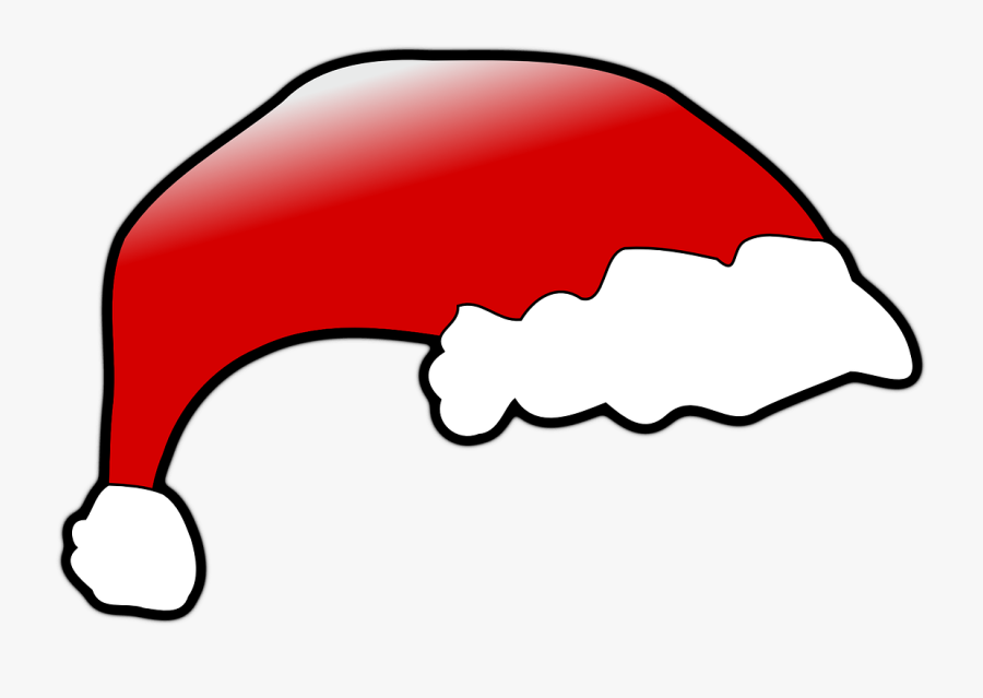 Red Santa Claus Hat, Transparent Clipart