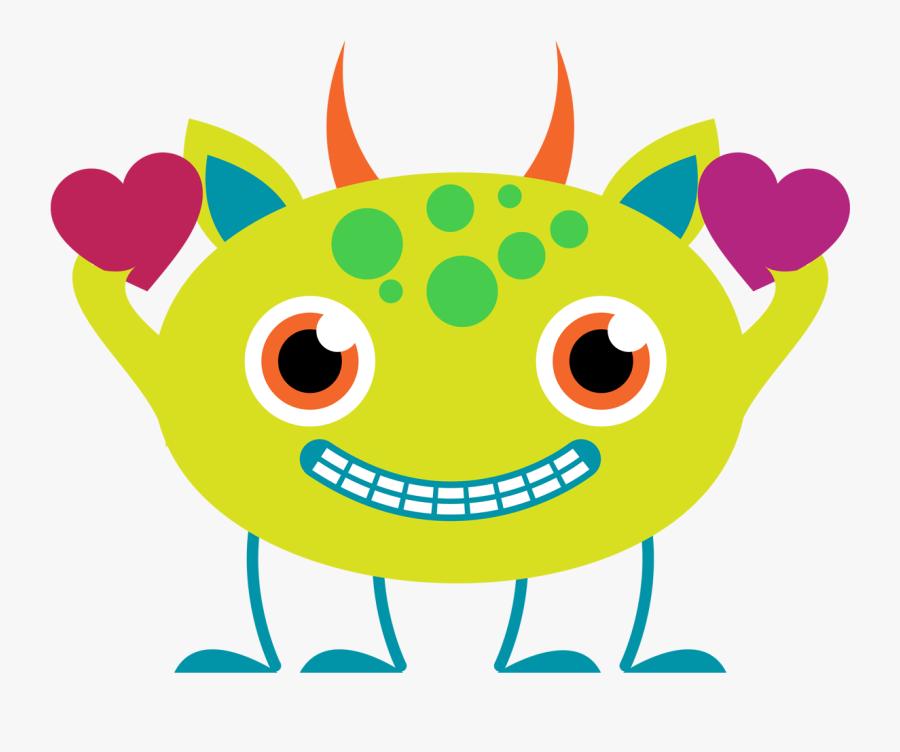 Dinosaur Clipart Valentine Party - Cute Monsters Clipart Png, Transparent Clipart