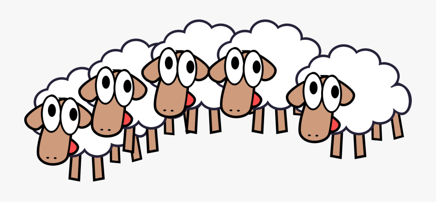 Group Of Sheep Clipart Amp Group Of Sheep Clip Art - Flock Of Sheep Clipart, Transparent Clipart