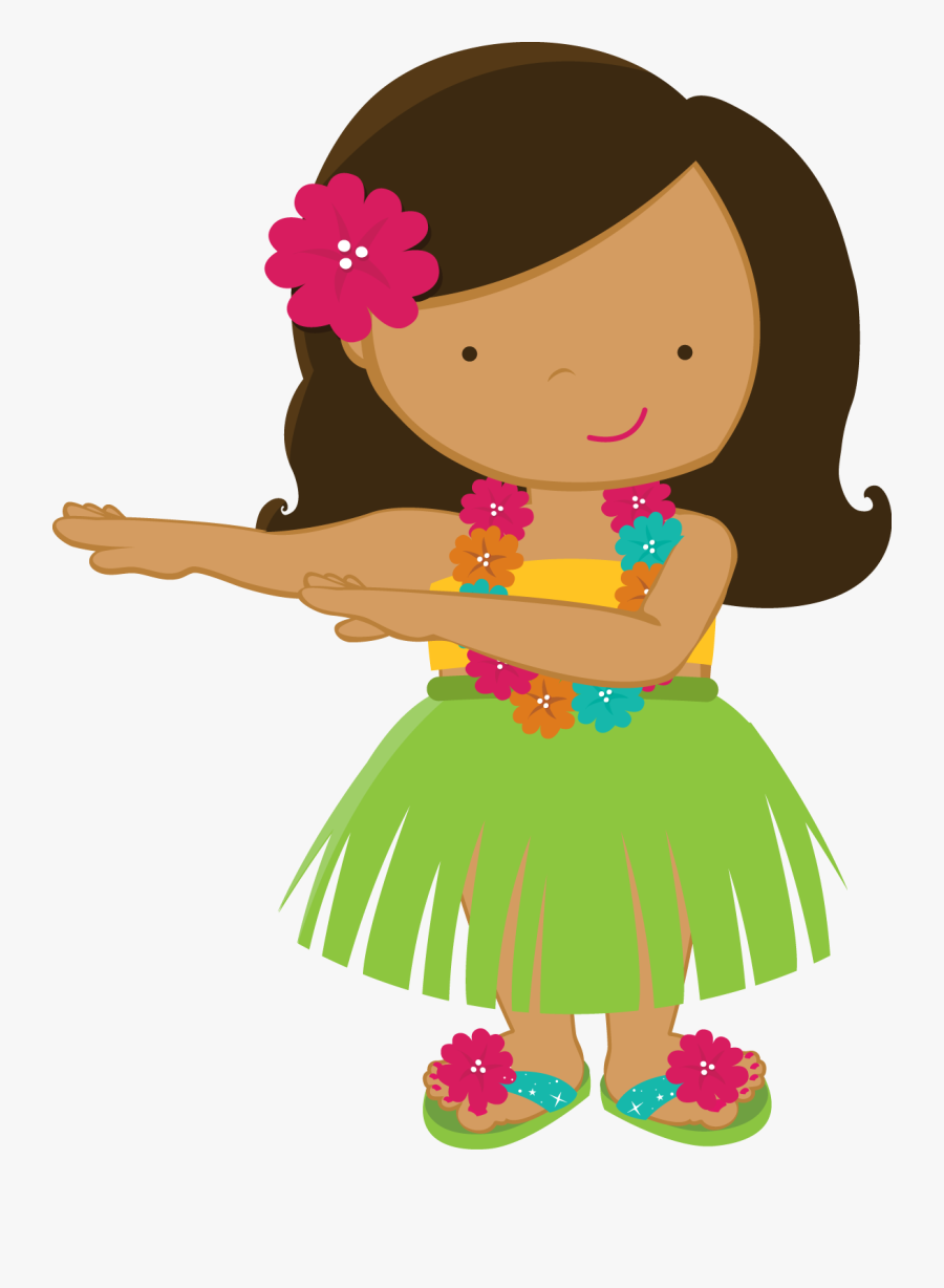 Aloha Minus Girl Drawings - Hawaiian Clipart, Transparent Clipart