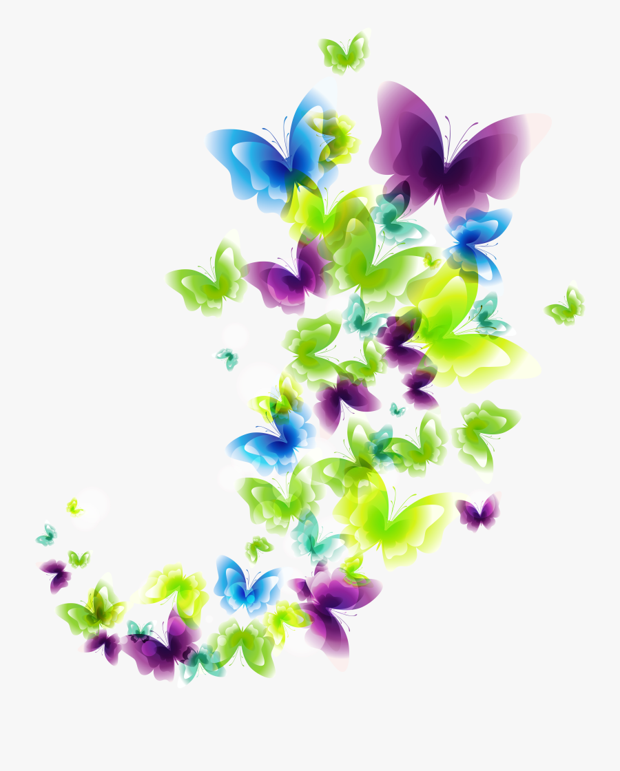 Deco Butterflies Png Clipart Picture - Butterfly Good Morning Quotes, Transparent Clipart