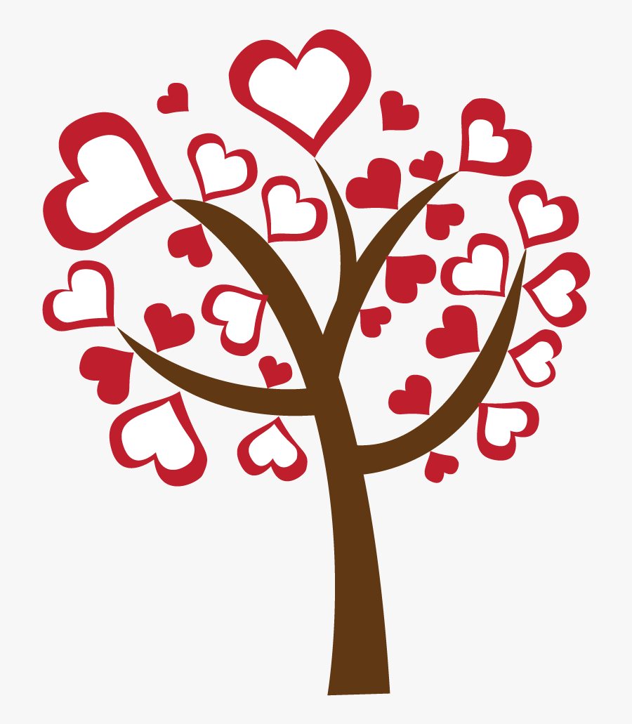 """Valentine""""s Day Clipart Heart Tree - Transparent Background Valentines Day Clipart, Transparent Clipart"""