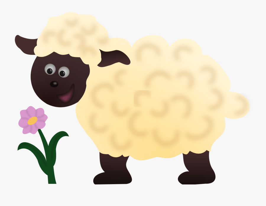 Happy Sheep Clipart - Cute Transparent Background Sheep Clipart Png, Transparent Clipart