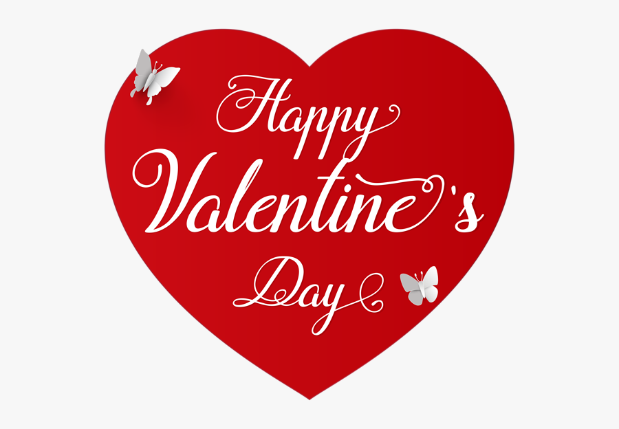 "Transparent Valentine""s Day Clip Art - Transparent Happy Valentines Day, Transparent Clipart"