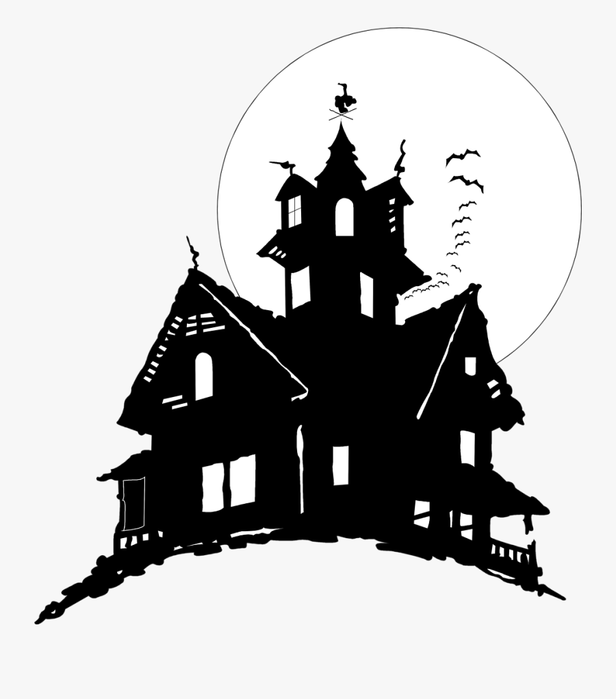 Halloween Haunted House Clipart - Haunted House No Background, Transparent Clipart