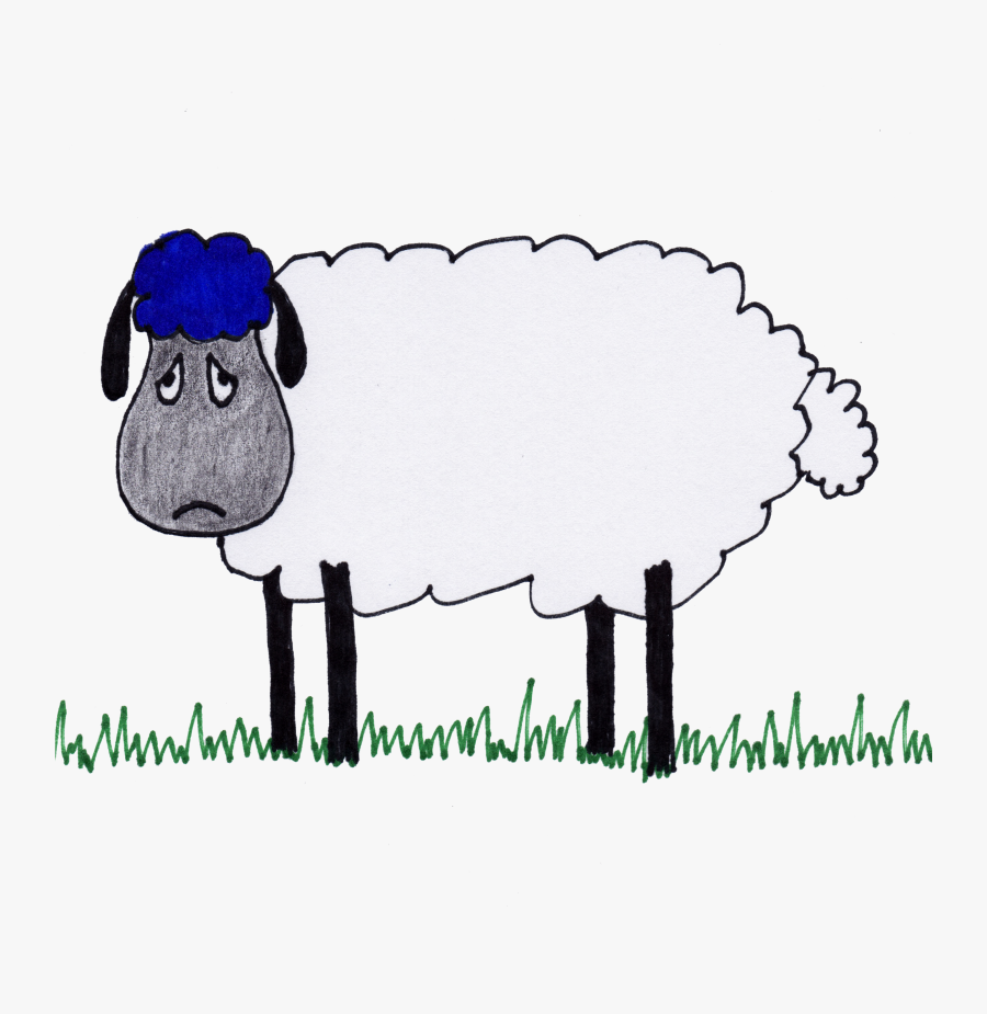 """Children""""s Book About Feelings - Sad Sheep, Transparent Clipart"""