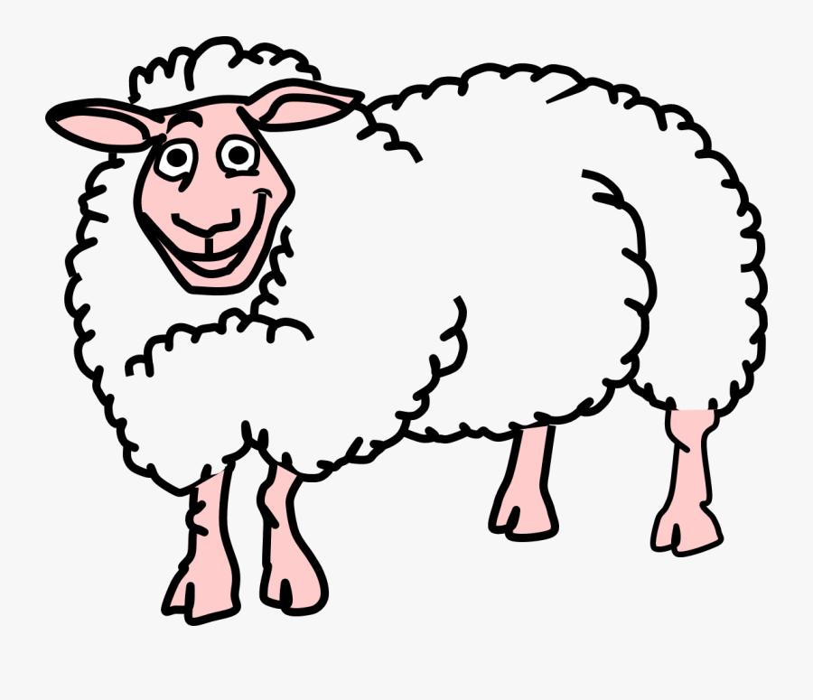 Sheep Clipart Reading - Farm Animals Clipart Sheep, Transparent Clipart