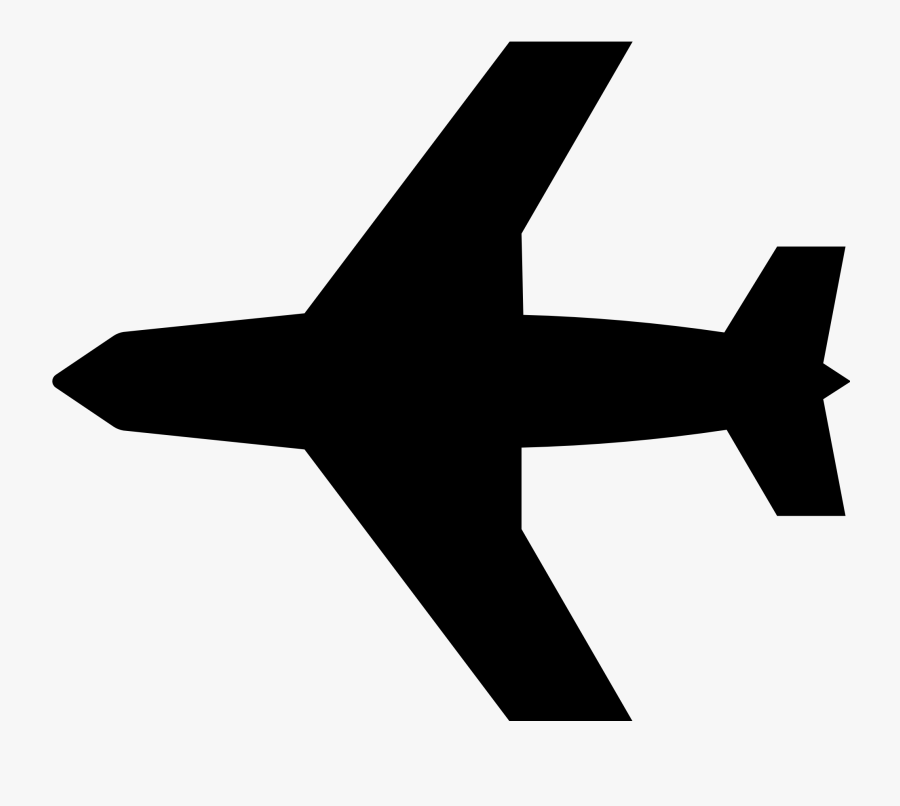 Thumb Image - Black And White Airplane, Transparent Clipart
