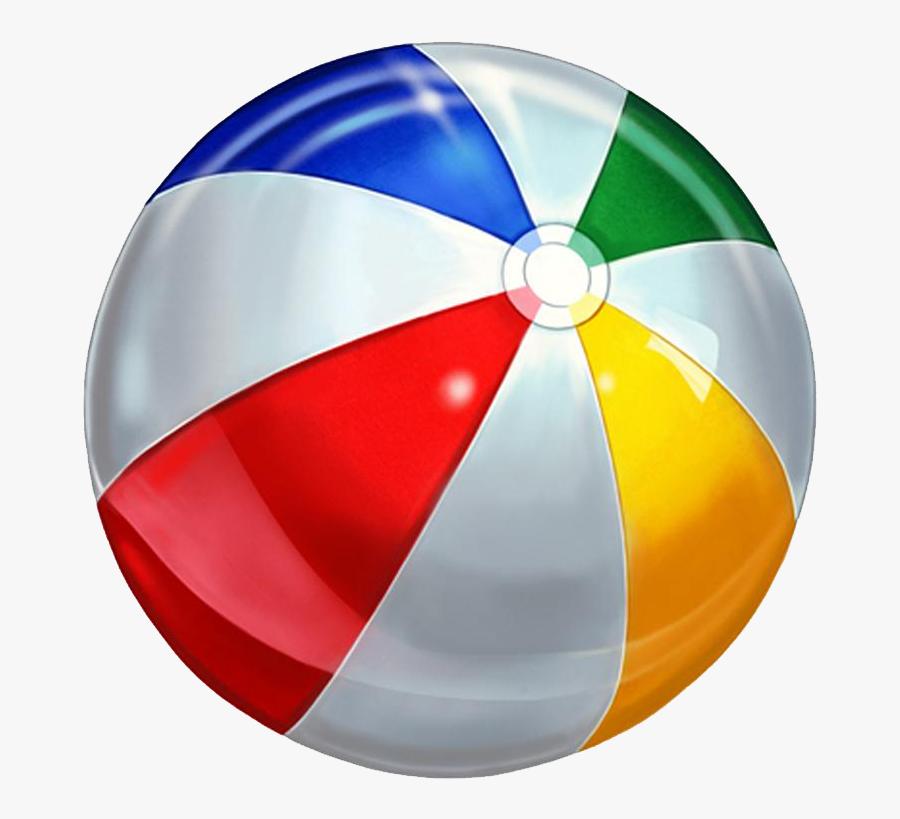 Beach Ball Clip Art - Swimming Pool Ball Png, Transparent Clipart