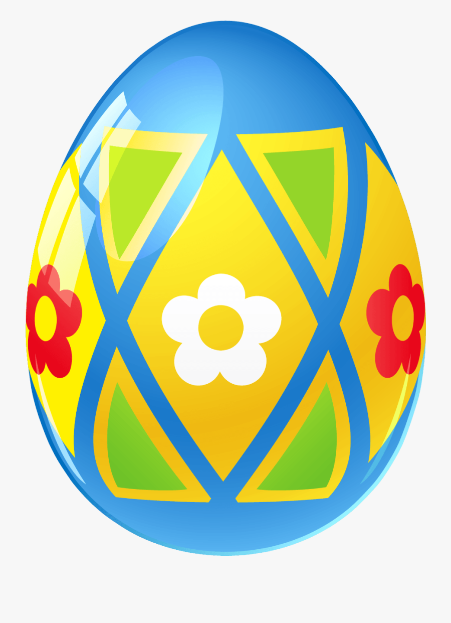 Single Colored Easter Eggs, Transparent Clipart