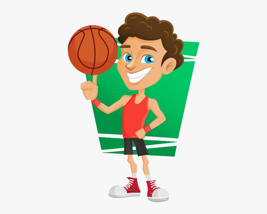 Clip Art Basketball Player Clip Art - Basketball Clip Art Boys, Transparent Clipart