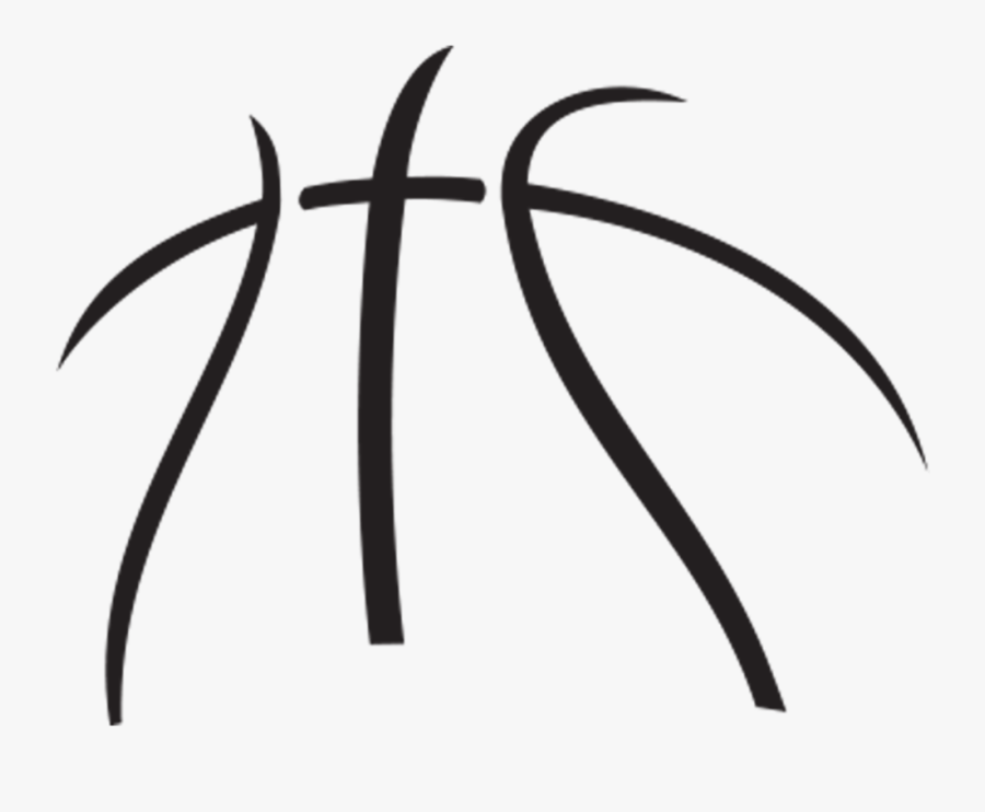 Basketball Black And White Clipart Free Clip Art Images - Basketball Outline Clipart, Transparent Clipart