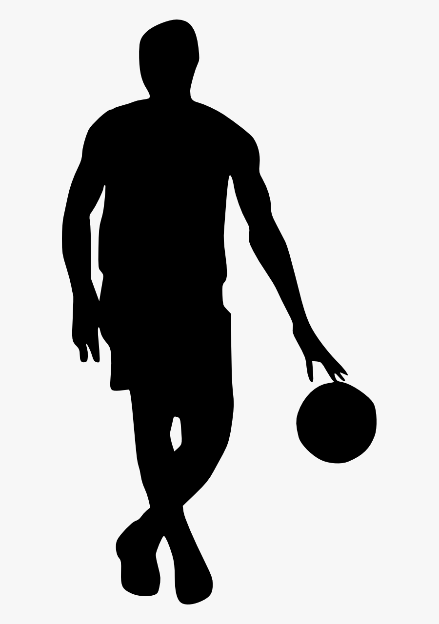 Clip Art Free Stock Front View - Basketball Player Silhouette Png, Transparent Clipart