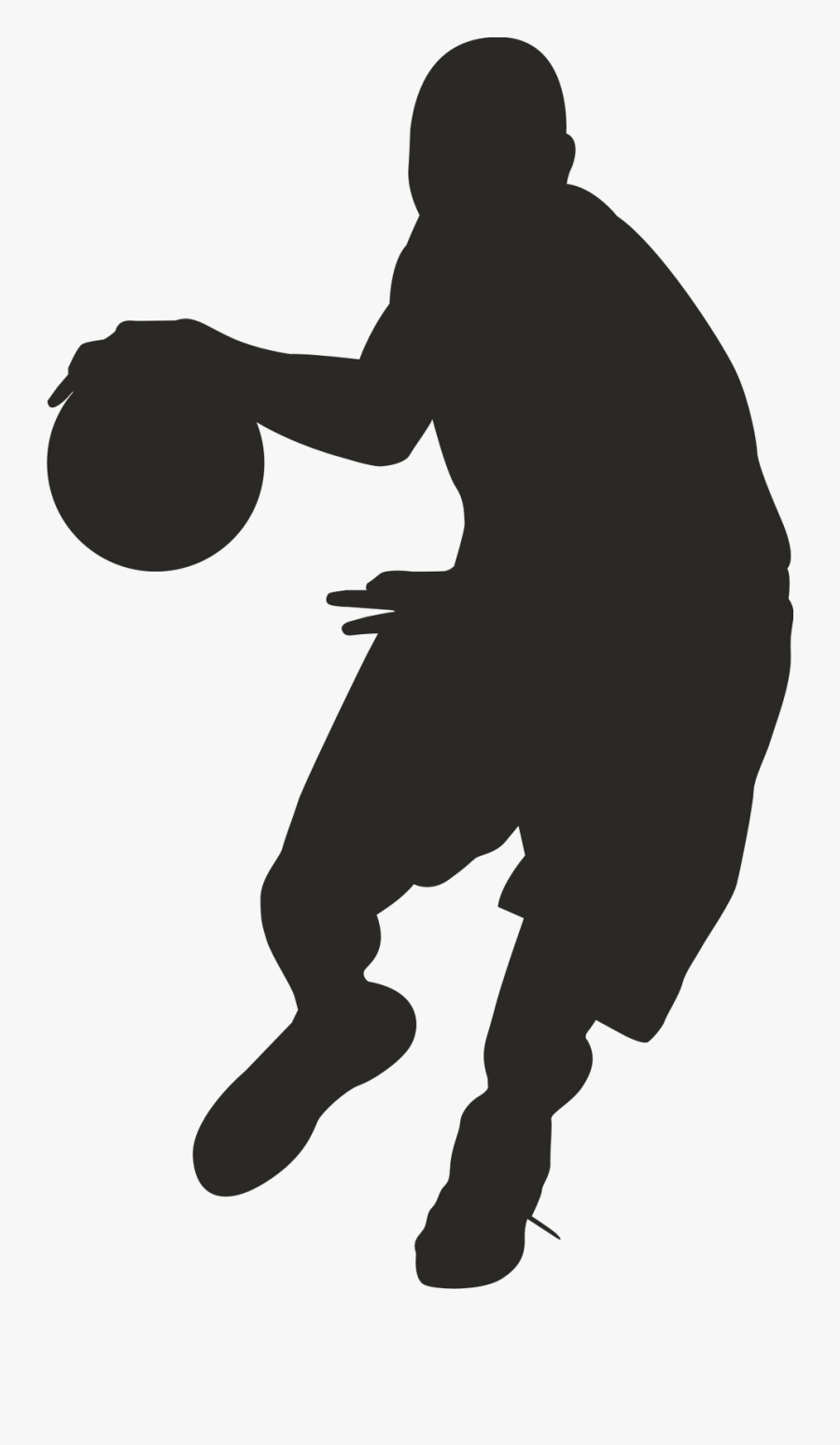 Basketball Clip Art Clipart Silhouette Transparent - Basketball Player Clipart Black, Transparent Clipart