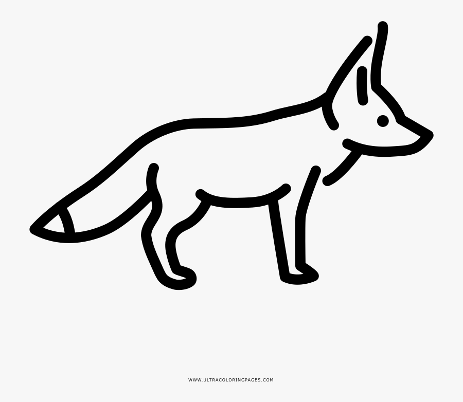 Fennec Fox Fall Coloring Page, Printable Fennec Fox - Draw A Fennec Fox, Transparent Clipart