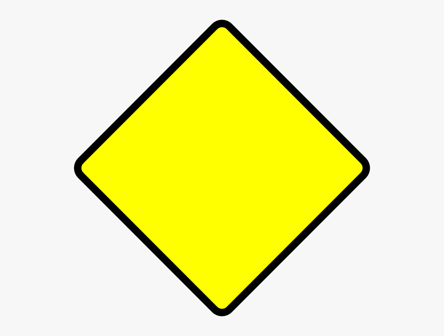 Vector Royalty Free Stock Blank Street Road Sign - Blank Yellow Caution Sign, Transparent Clipart