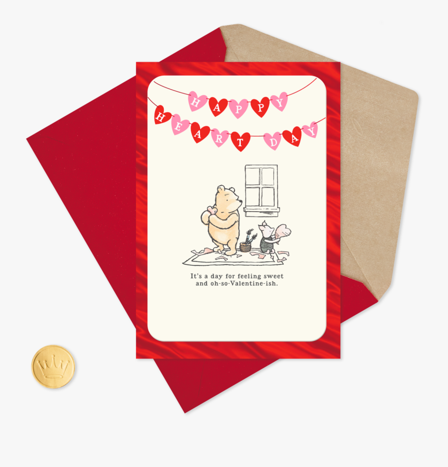 "Disney Winnie The Pooh Feeling Sweet Valentine""s Day - Happy Valentines Day Winnie The Pooh, Transparent Clipart"