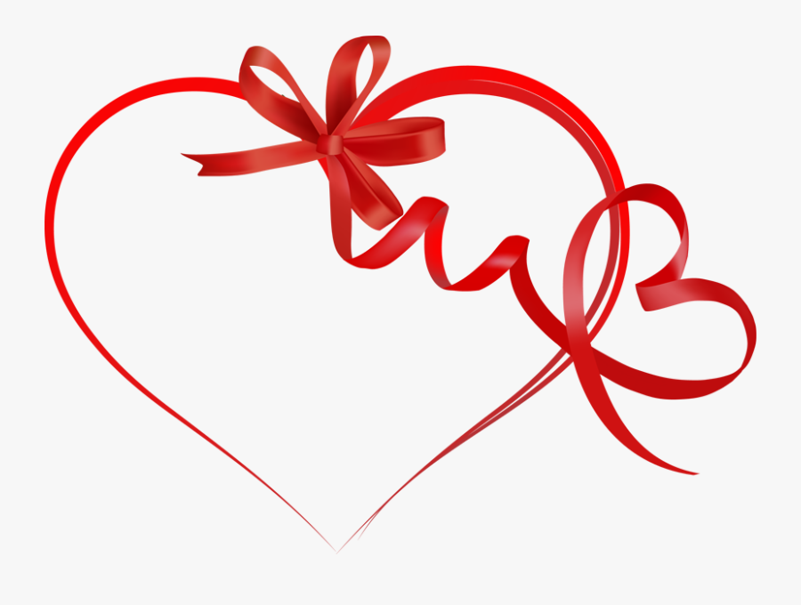 Valentines Day Ribbon Png, Transparent Clipart