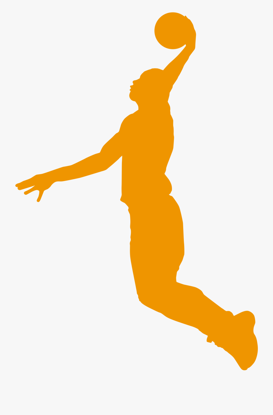 Slam Dunk Silhouette At Getdrawings - Transparent Background Basketball Player Basketball, Transparent Clipart