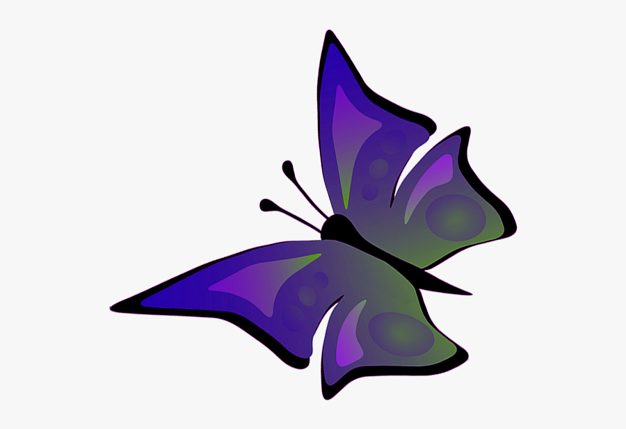 Butterfly Clipart - Drawing Of Flying Butterfly, Transparent Clipart