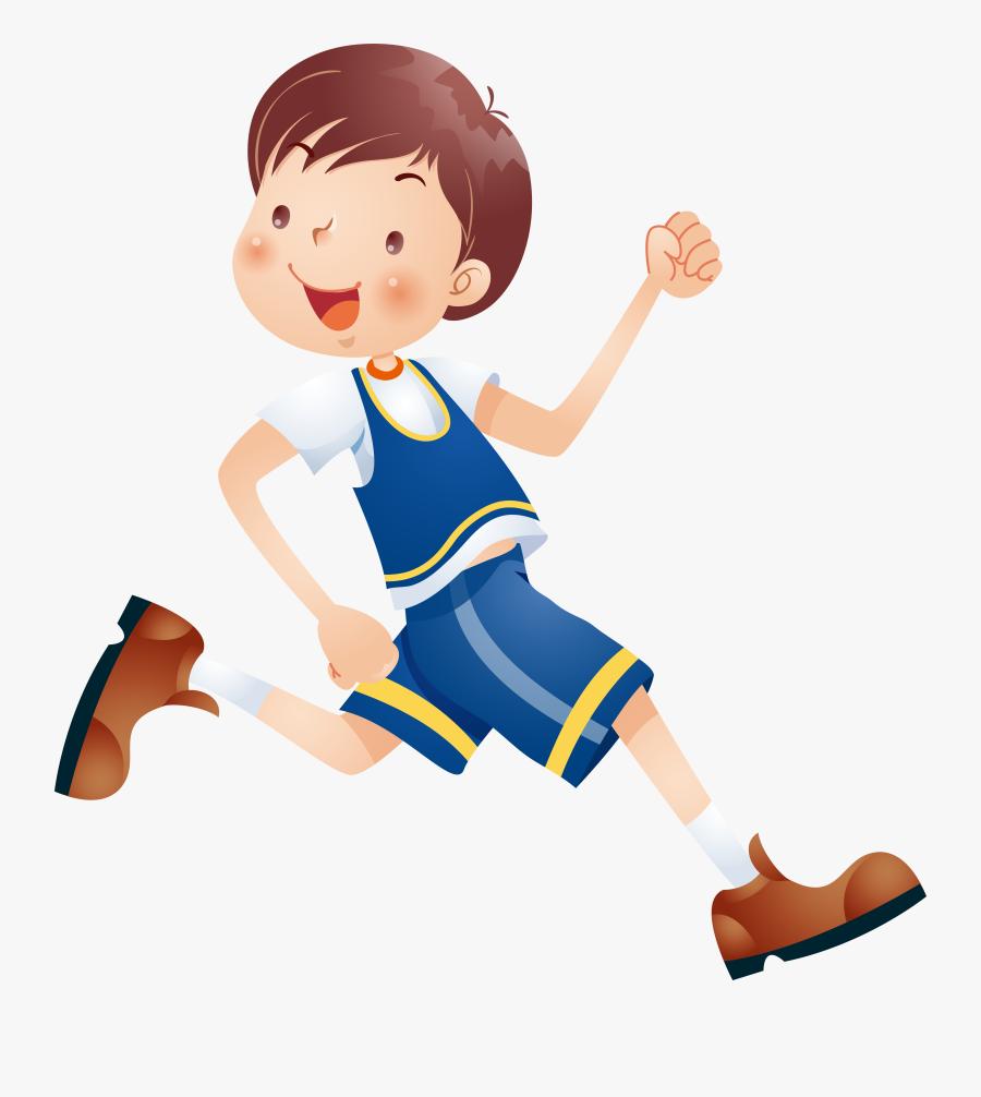 Kids Clipart Com At Getdrawings - Happy Running Boy Cartoon, Transparent Clipart