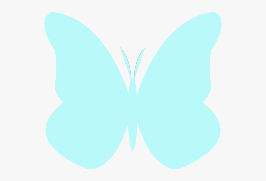 Aqua Butterfly Cliparts - Light Blue Butterfly Png, Transparent Clipart