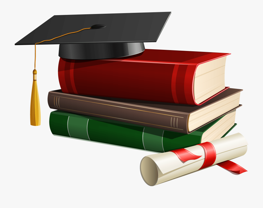 Graduation Cap Books And Diploma Png Clipart - Graduation Cap And Diploma Png, Transparent Clipart