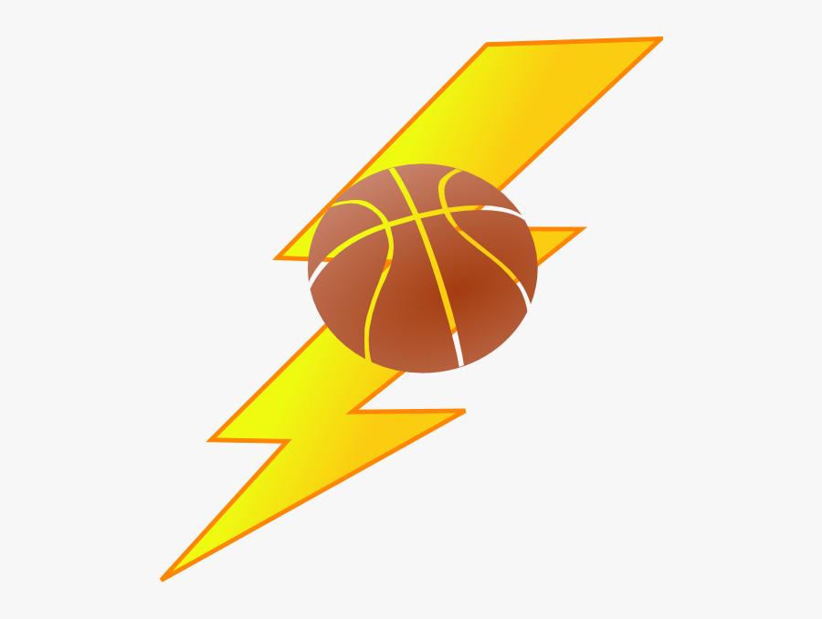 Thunder Basketball Clipart - Basketball Lightning Clipart, Transparent Clipart