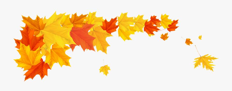 Transparent Fall Leaf Border, Transparent Clipart