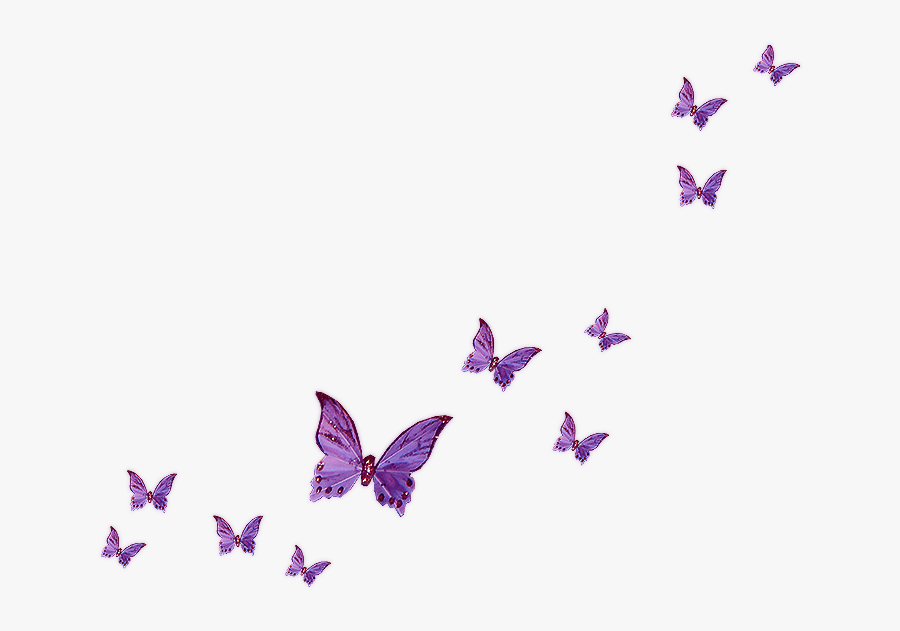 Lavender Butterfly Clipart - Transparent Background Butterfly Clipart, Transparent Clipart