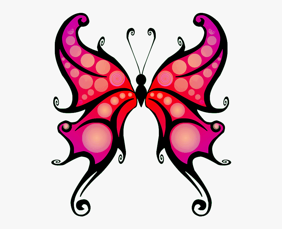 Picture Royalty Free Download Cartoon At Getdrawings - Outline Butterfly Tattoo Png, Transparent Clipart