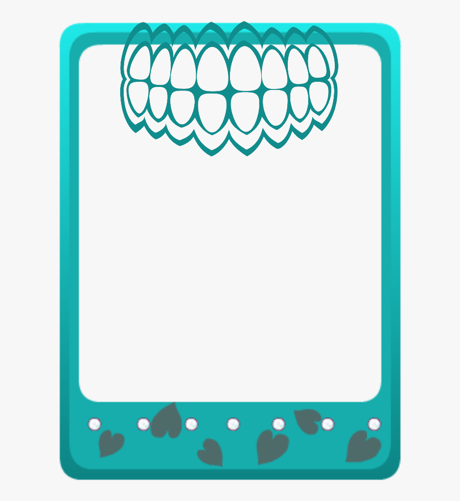 Mq Green Teeth Frames Border Borders Clipart , Png - Teeth Frames And Borders, Transparent Clipart