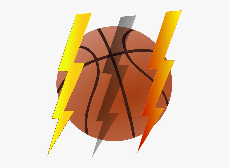 Lightning Bolt Basketball Clip Art At Clker - Animated Images Of Basketballs, Transparent Clipart