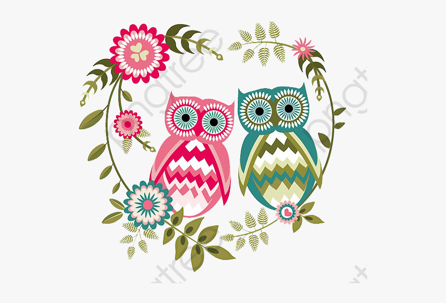 Happy Valentines Day Clipart Owl - Valentine's Day, Transparent Clipart
