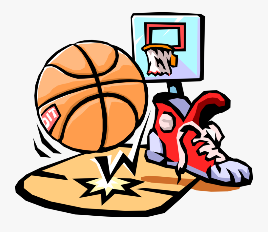 Vector Illustration Of Sport Of Basketball Ball With - Basketball Clip Art, Transparent Clipart