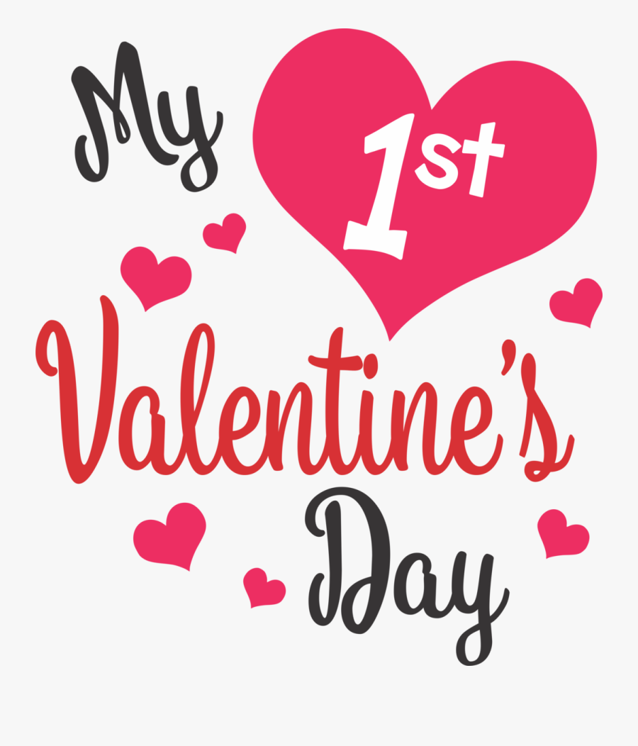 1st Valentines Day Clipart, Transparent Clipart