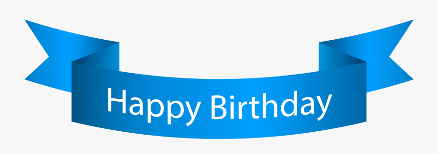 Happy Birthday Png Blue - Happy Birthday Blue Banner, Transparent Clipart