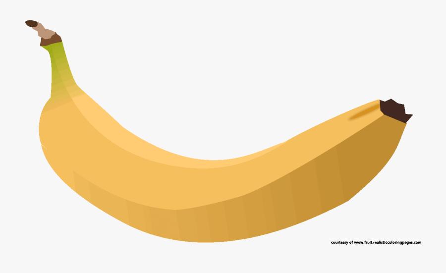 Banana Clipart Real Fruit - Saba Banana, Transparent Clipart