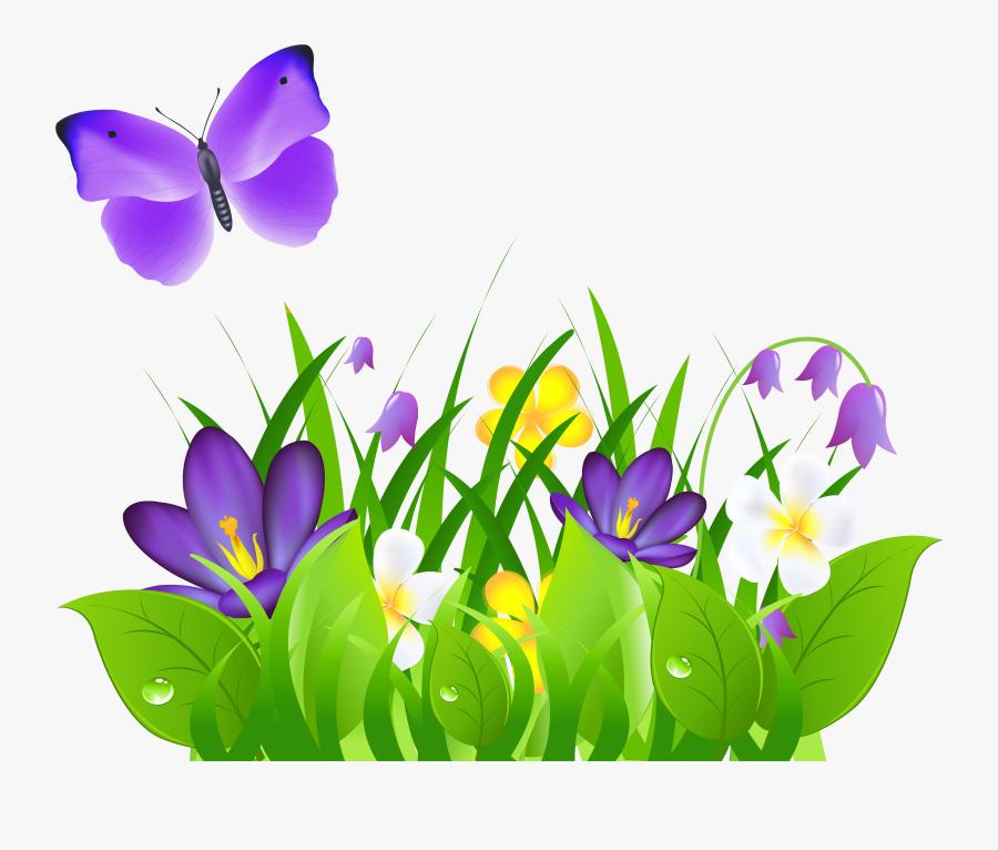 Clip Art Collection Of Free Butterflies - Butterfly Flower Clip Art, Transparent Clipart